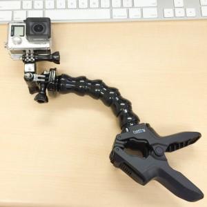 GoPro クランプマウント設置