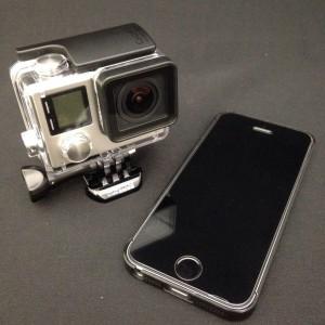 GoPro hero4 ブラックとiphone5s