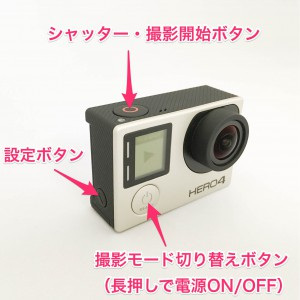 GoPro HERO4 ボタンの説明