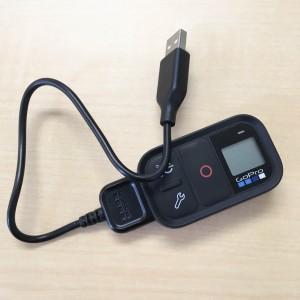 GoPro スマートリモート 充電時のスタイル