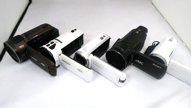 主要なビデオカメラ一覧 Panasonic