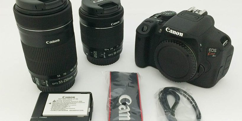 CANON EOS Kiss X7i ダブルズームキット開封から撮影まで