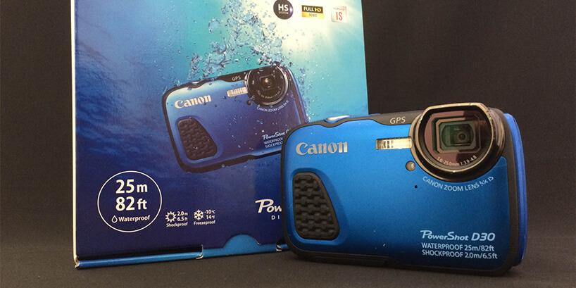 キヤノン防水カメラ Powershot D30 レビュー!!気になる画質、性能は?