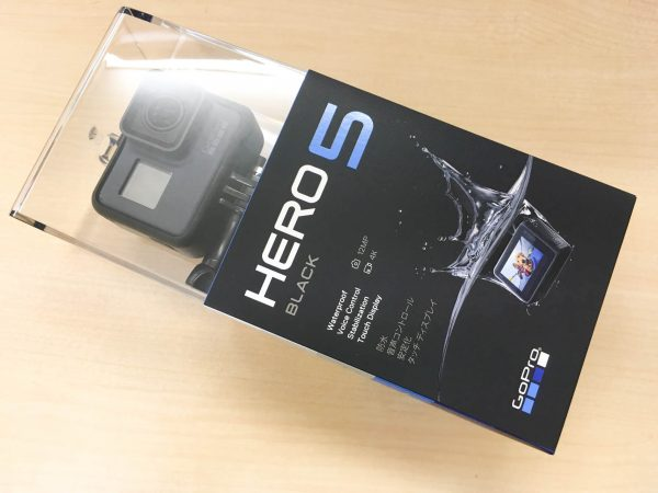 GoPro HERO5 Black 化粧箱表面