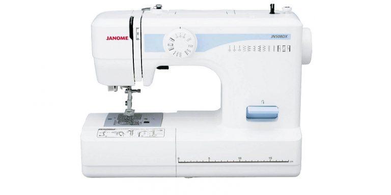 シンプルデザインでもしっかり機能のミシン ジャノメ「JN508DX」