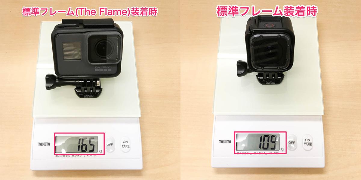 GoPro HERO5シリーズの重さを計って他のアクションカメラと比較してみました