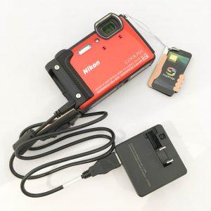 nikon coolpix w300 充電スタイル