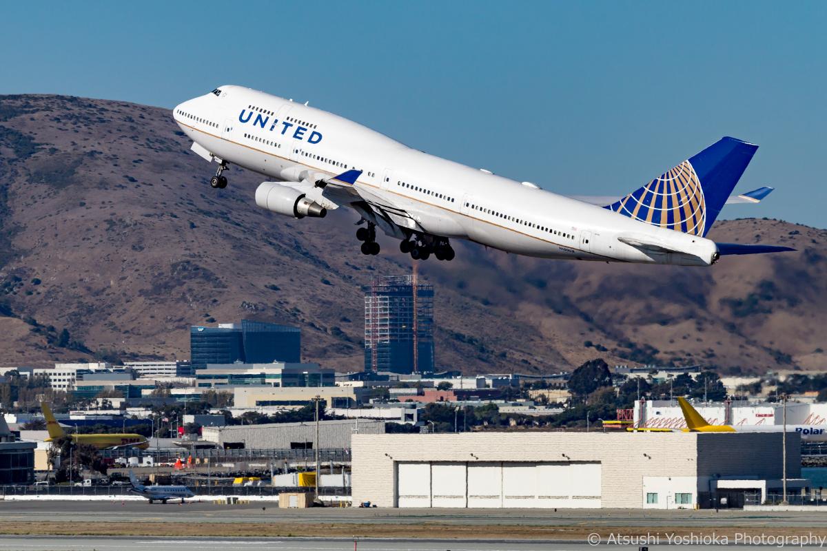 UA 747-400 SFO