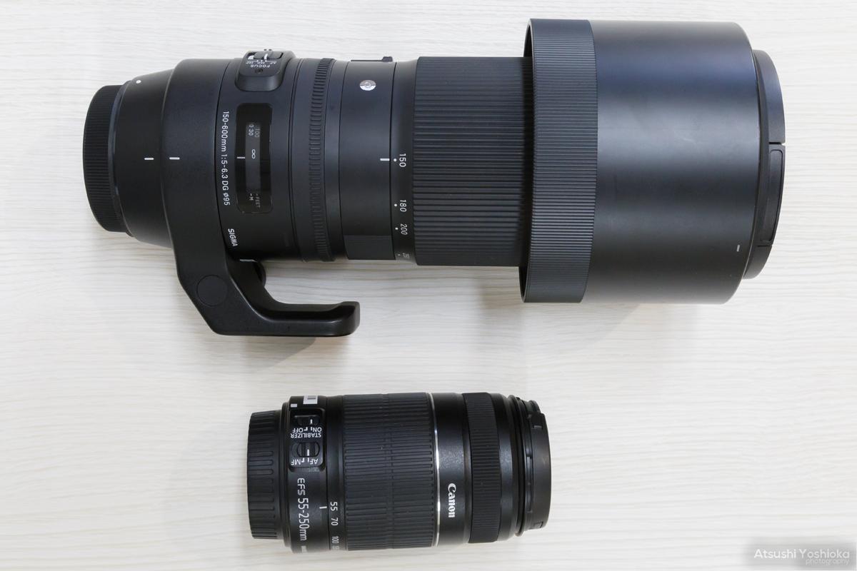 SIGMA 150-600mm EF 55-250mm