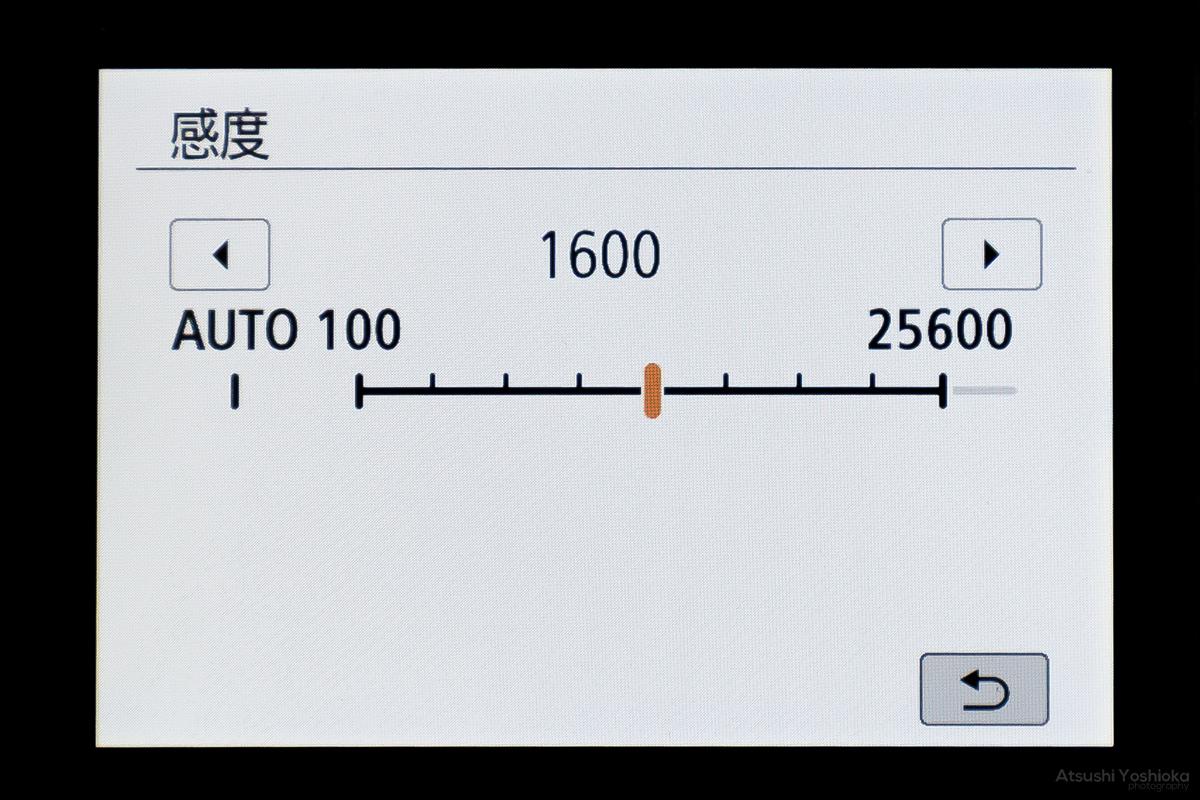 カメラ ISO感度 設定