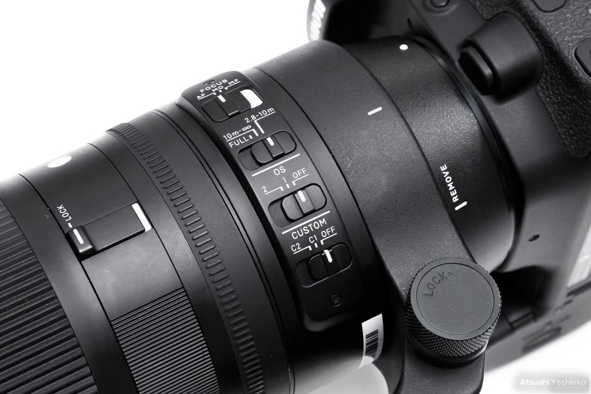 SIGMA 150-600mm F5-6.3 DG OS HSM スイッチ部