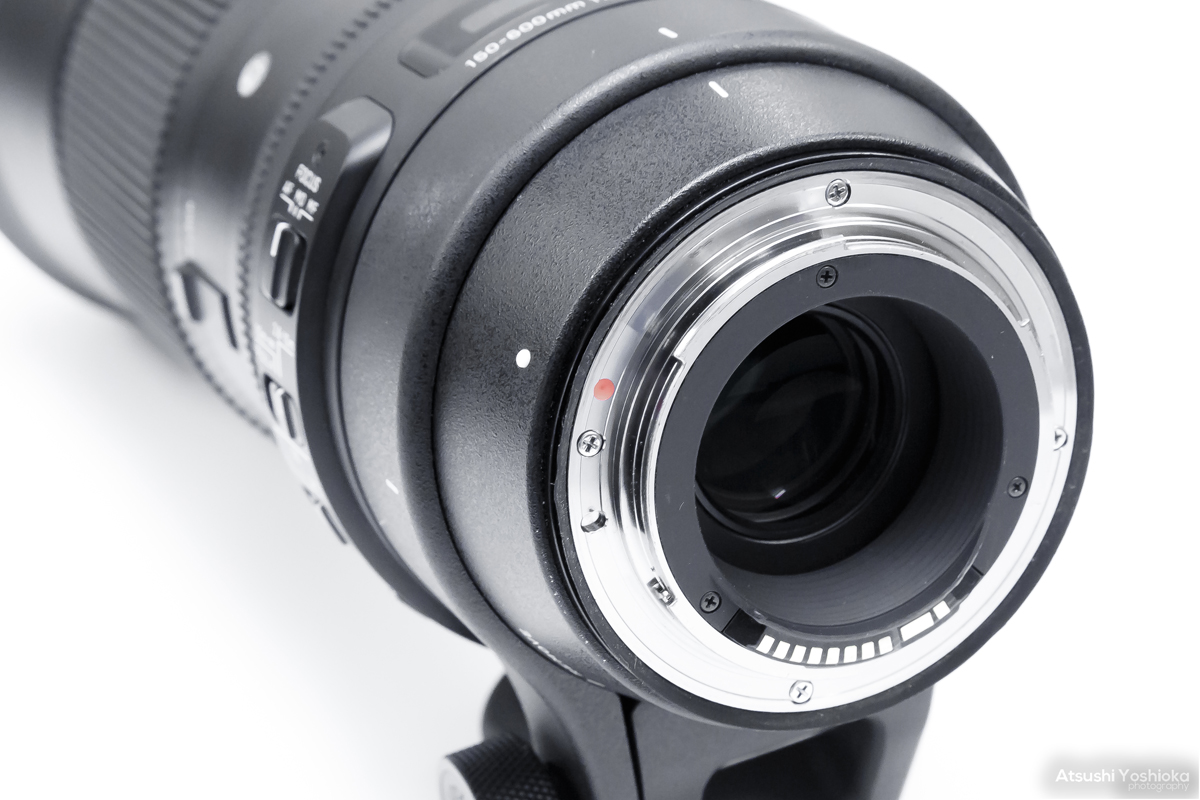 SIGMA 150-600mm F5-6.3 DG OS HSM マウント部