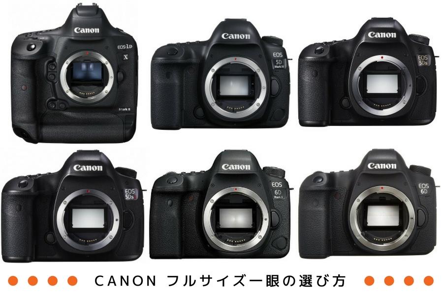 Canon(キヤノン)フルサイズ一眼の選び方。2021年最新ラインナップ10機種の特長も紹介