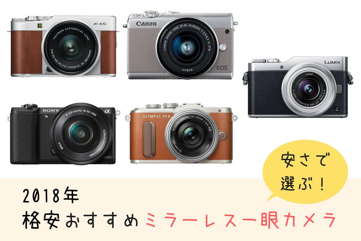 2019年格安ミラーレス一眼カメラ5選!安さで選ぶおすすめモデルをご紹介