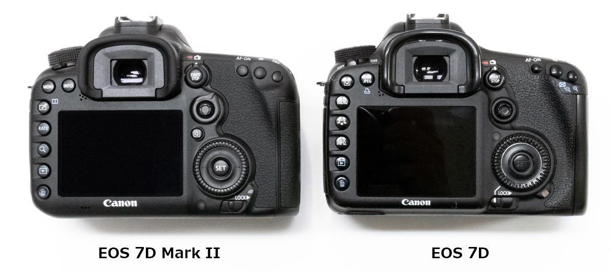 EOS 7D Mark II ボディ背面