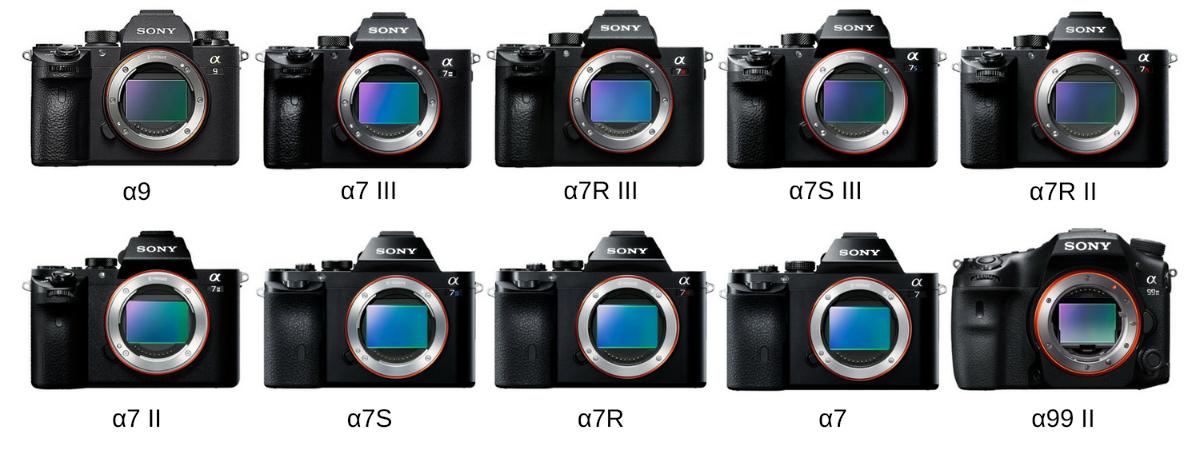 ソニー フルサイズ一眼カメラ 比較