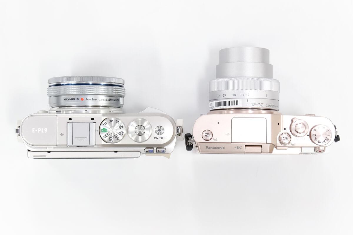 E-PL9 GF10 撮影時大きさ 比較