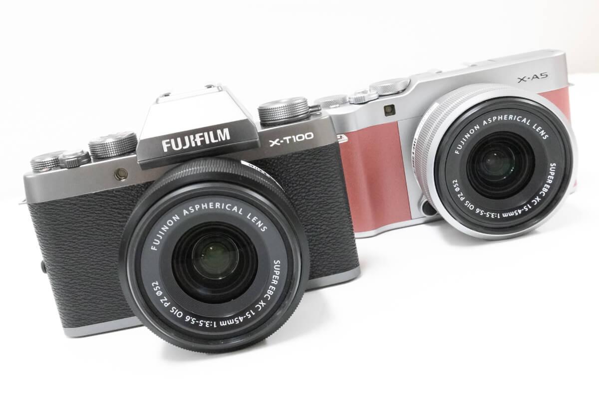 FUJIFILM X-T100 X-A5 比較