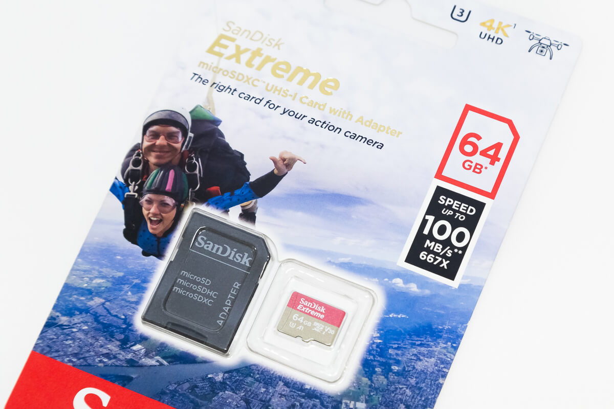 GoPro microSDカード 転送速度