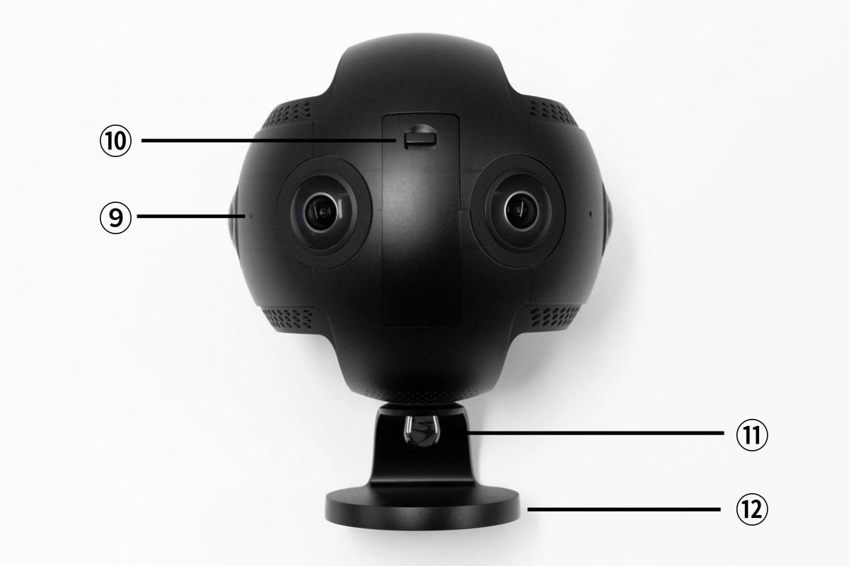 Insta360 Pro2 各部名称