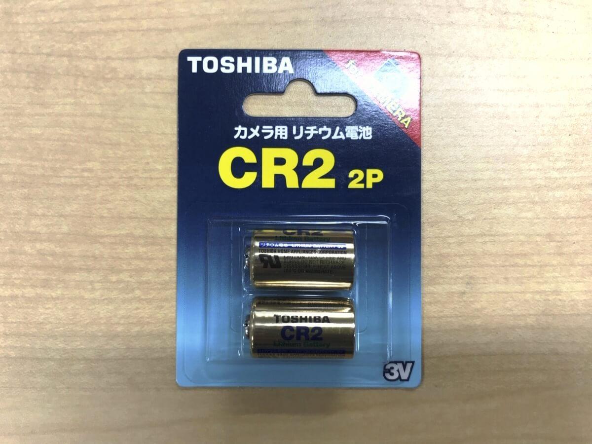チェキの電池_充電不可のリチウム電池
