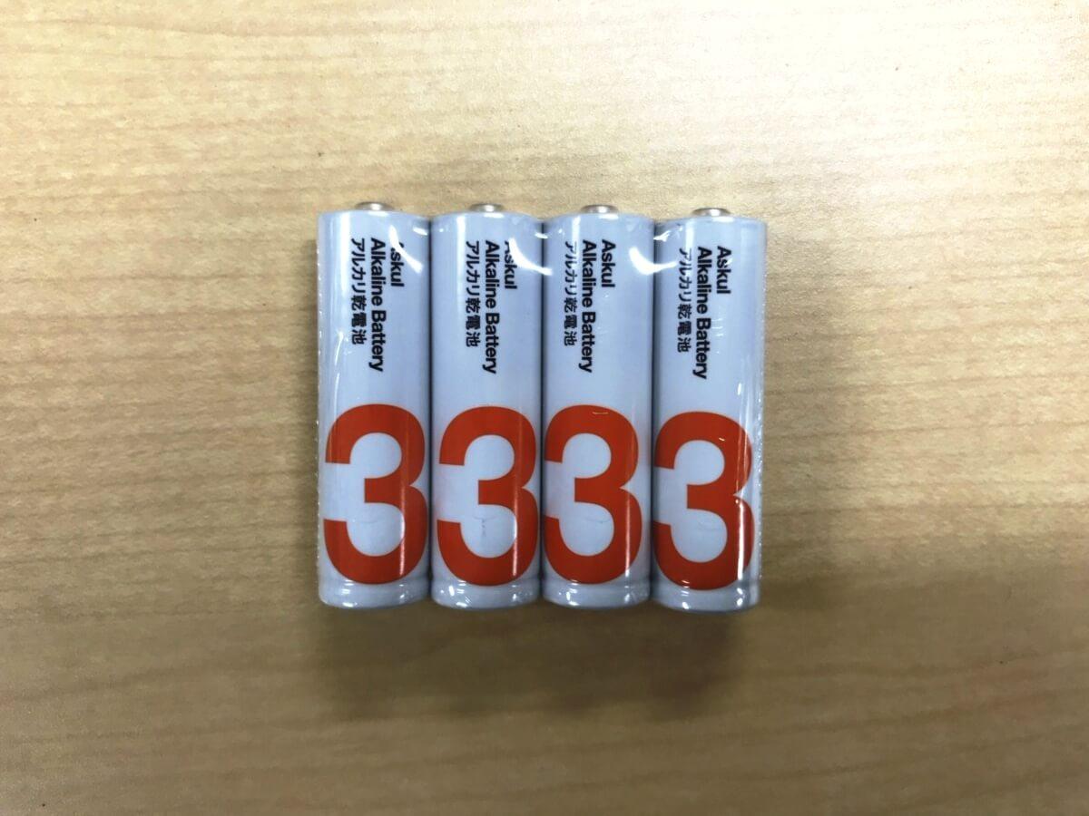 チェキの電池_単三乾電池
