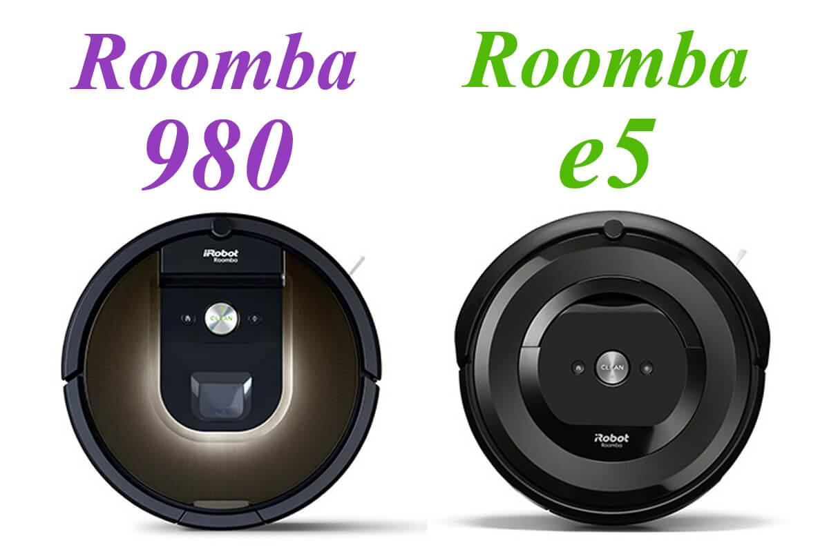 高機能ルンバ980 vs コスパ最強ルンバe5を6項目で比較!部屋の間取りが選び方のポイント