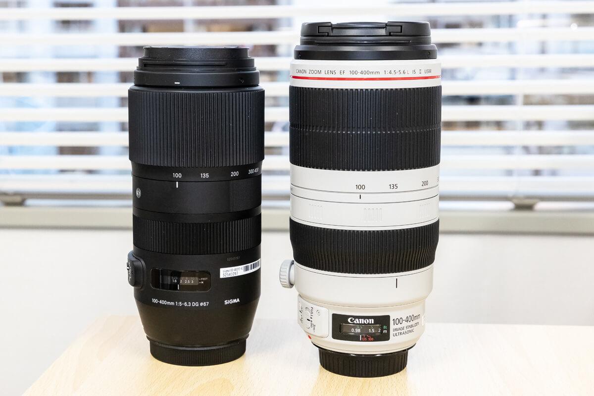 SIGMA 100-400mm F5-6.3 DG OS HSM 比較