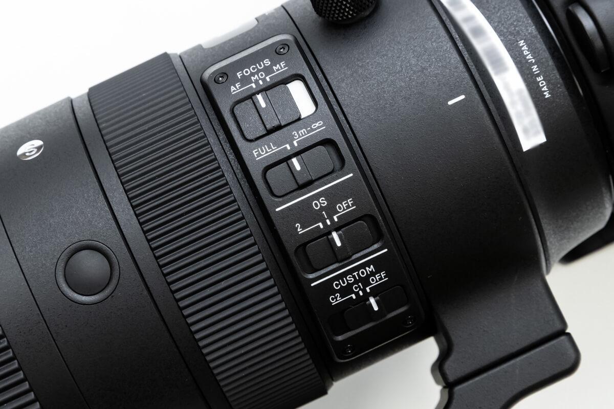 SIGMA 70-200mm F2.8 DG OS HSM 手ブレ補正機構