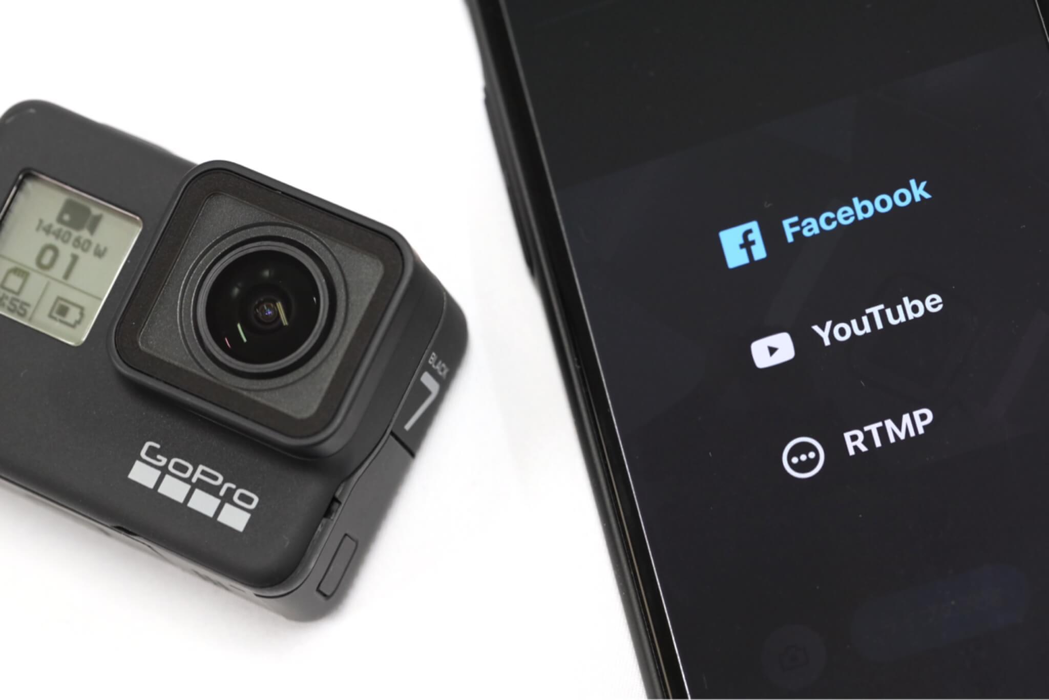 GoPro HERO7 Blackでライブストリーミング!設定から配信までの手順を徹底解説(Facebook編)