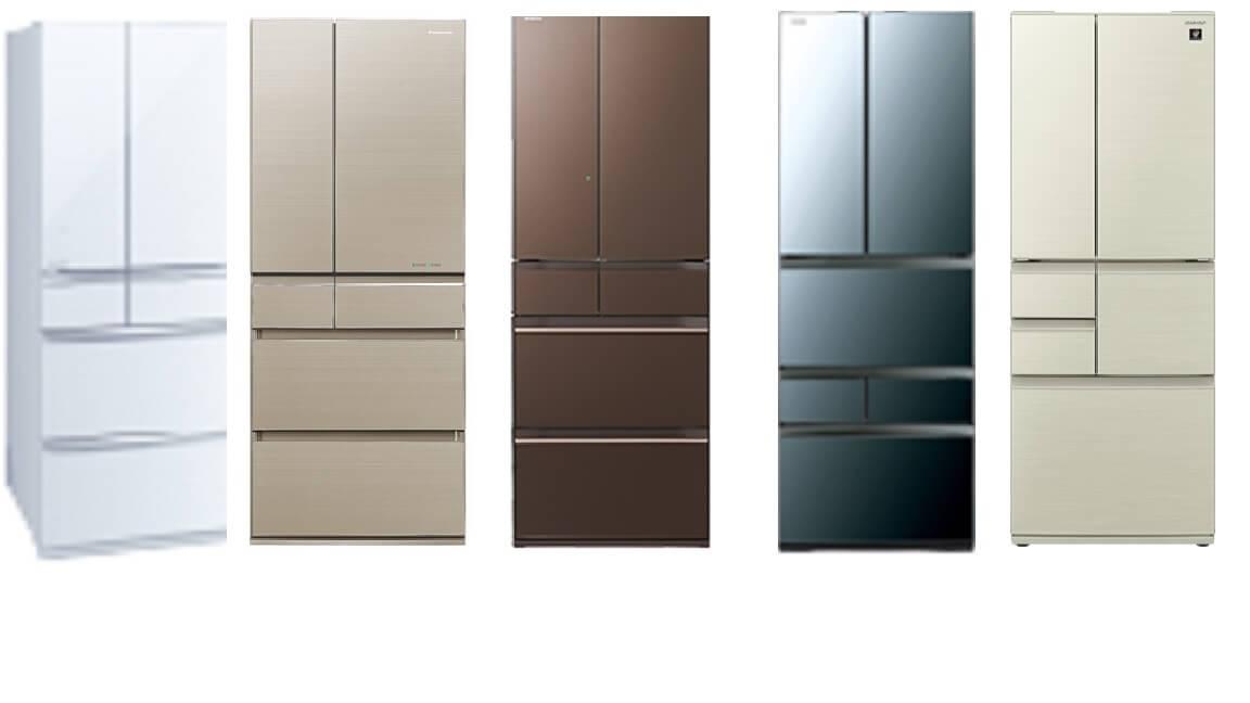 大型冷蔵庫の選び方と購入時の注意点、国内5大メーカー別おすすめと特徴を紹介!