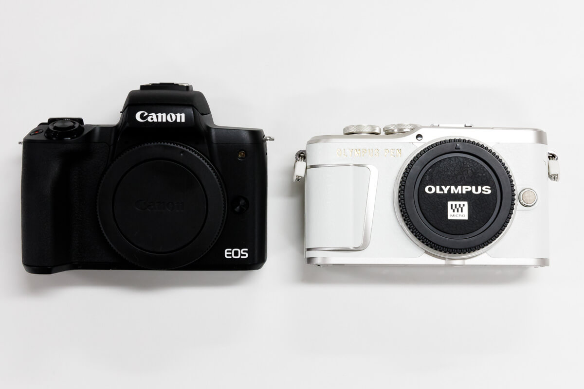 Canon EOS Kiss M OLYMPUS PEN E-PL9 比較