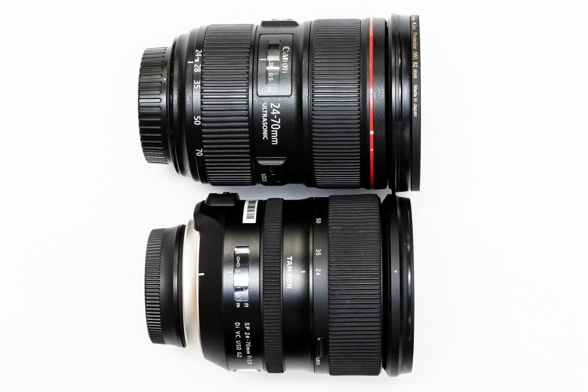 TAMRON SP 24-70mm F/2.8 Di VC USD G2 純正比較