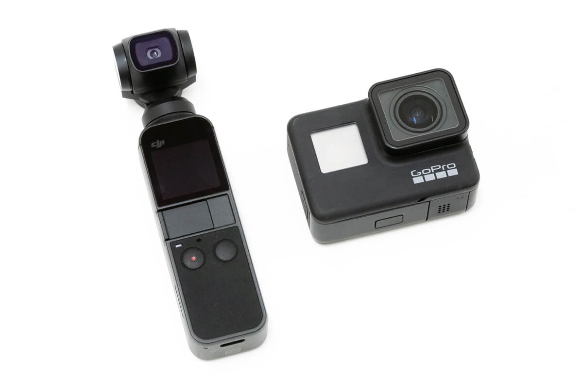 「GoPro HERO7 Black」「DJI Osmo Pocket」の違い