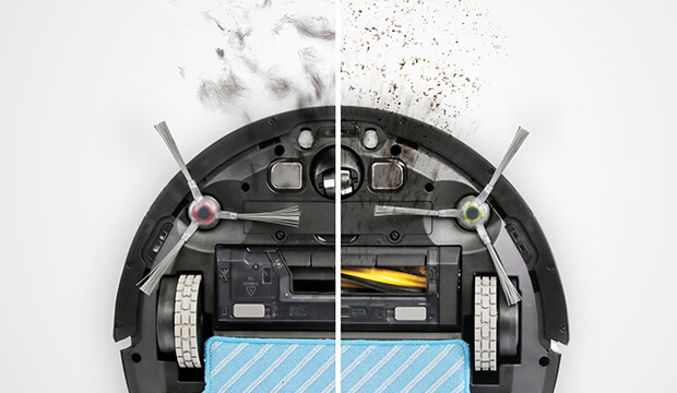 エコバックス DEEBOTロボット掃除機の選び方 2. ブラシはある?