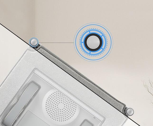 WINBOT X メリット 5. エッジ検出センサーでフレームなし窓もOK