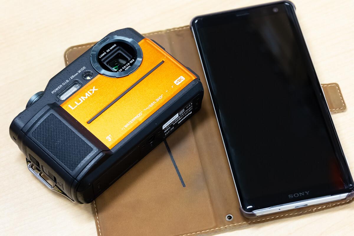 防水カメラ スマートフォン