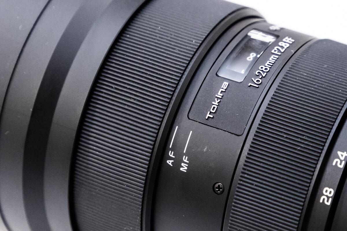 Tokina opera 16-28mm F2.8 FF AF MF 切換