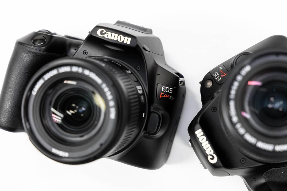 Canon EOS Kiss X10とEOS Kiss X9を徹底比較!新旧で気になる価格、性能、外観の違いを解説