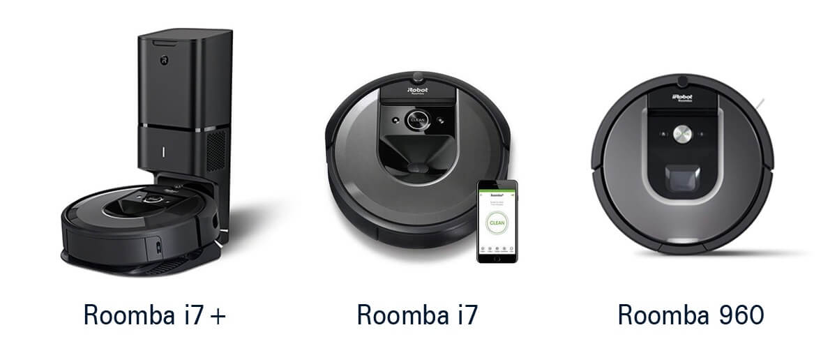 上位モデルのルンバ i7+,i7,960の違いを比較!あなたが選ぶべき機種はどれ?