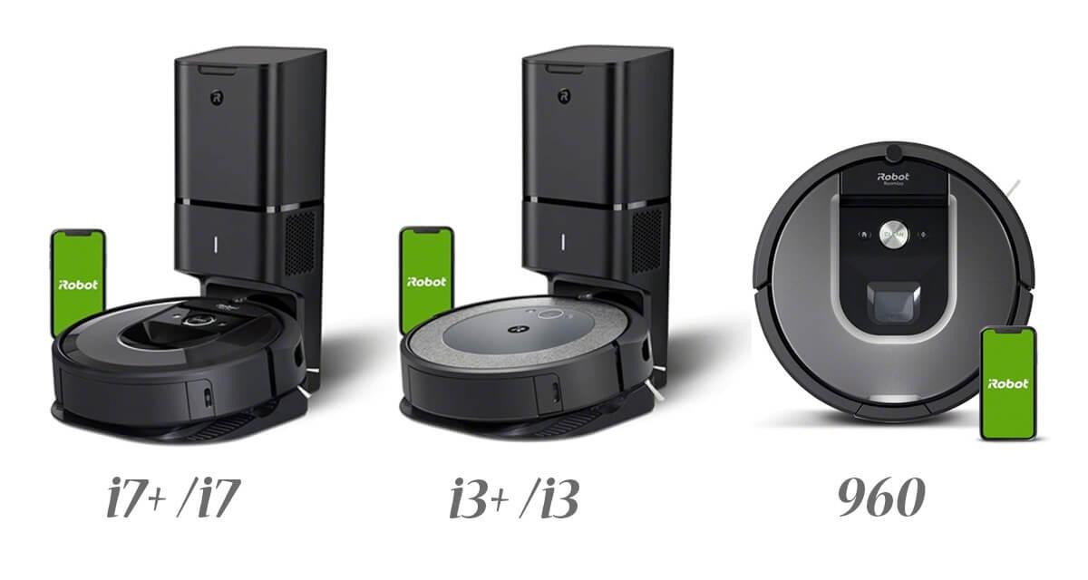 上位モデルのルンバ i7+,i7,i3+,i3,960の違いを比較!あなたが選ぶべき機種はどれ?