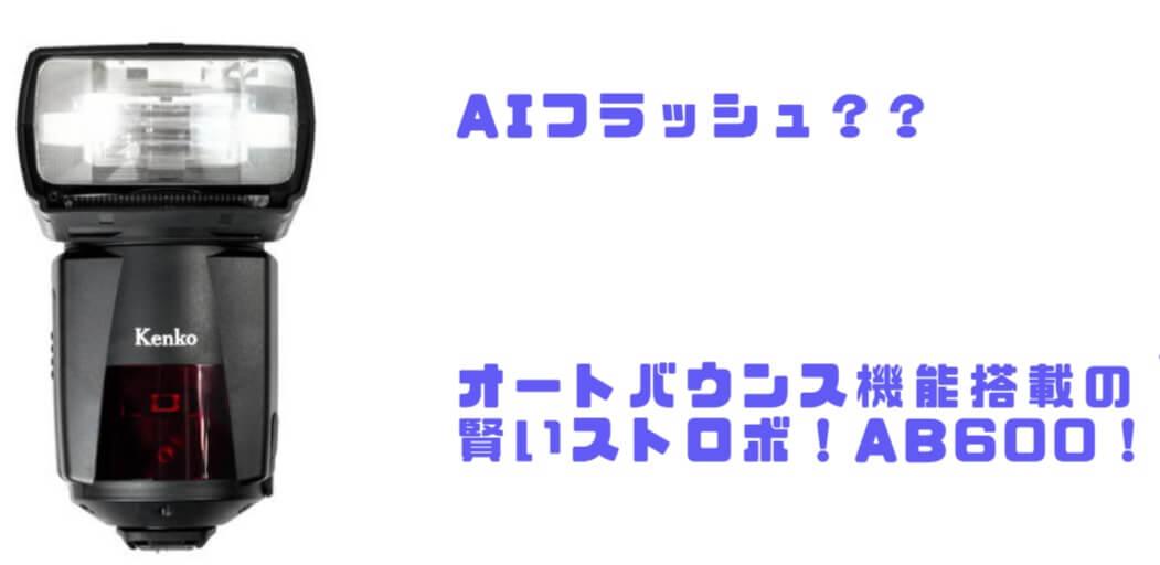 オートバウンス機能搭載「Kenko AIフラッシュ AB600-R」徹底レビュー!室内ポートレートに最適