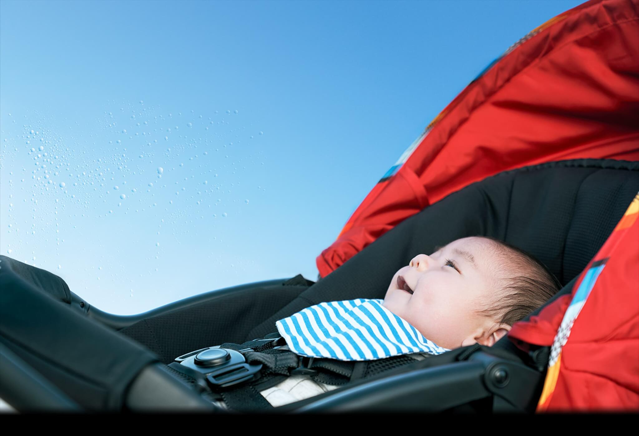 「ピジョン ランフィ」の特長 赤ちゃんの乗り心地も快適なシート