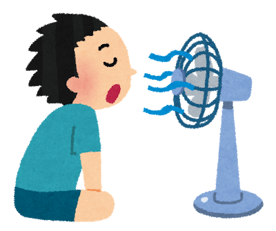 エアコン無し 扇風機