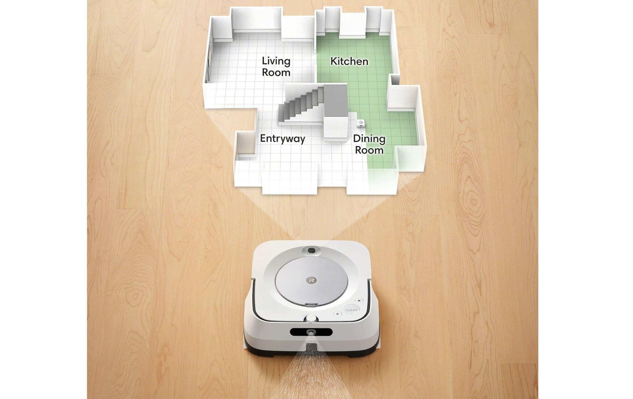 新型ブラーバ ジェット m6の特徴 間取りを記憶し指定の部屋だけ掃除可能