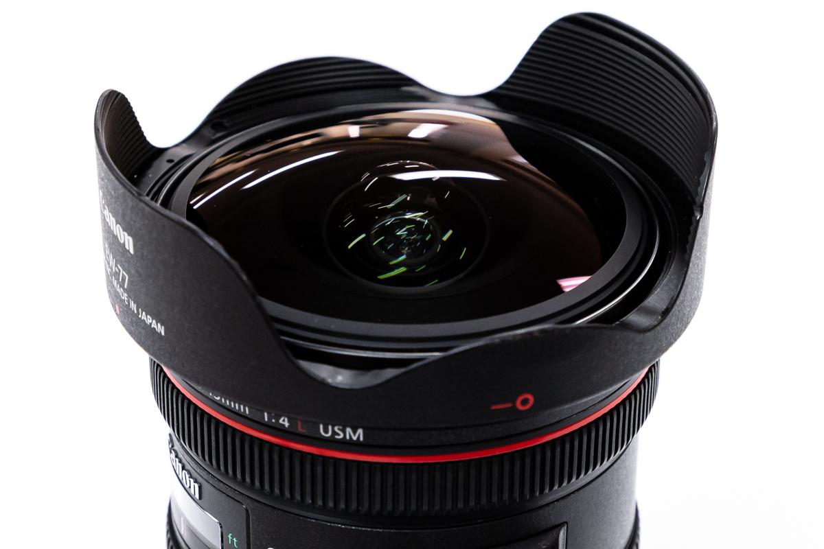 EF8-15mm F4L フィッシュアイ USM 球状レンズ
