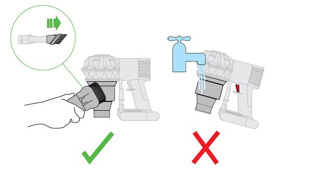 ダイソン サイクロンの乾拭き方法