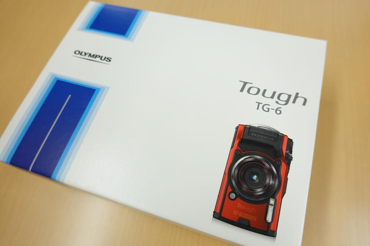 OLYMPUS「Tough TG-6」使用レビュー 箱外観写真