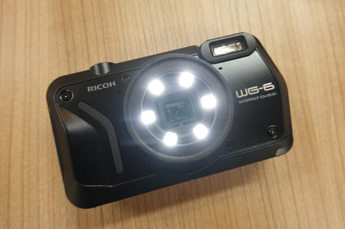 「RICOH WG-6」の特徴 3. パワーアップしたリングライト