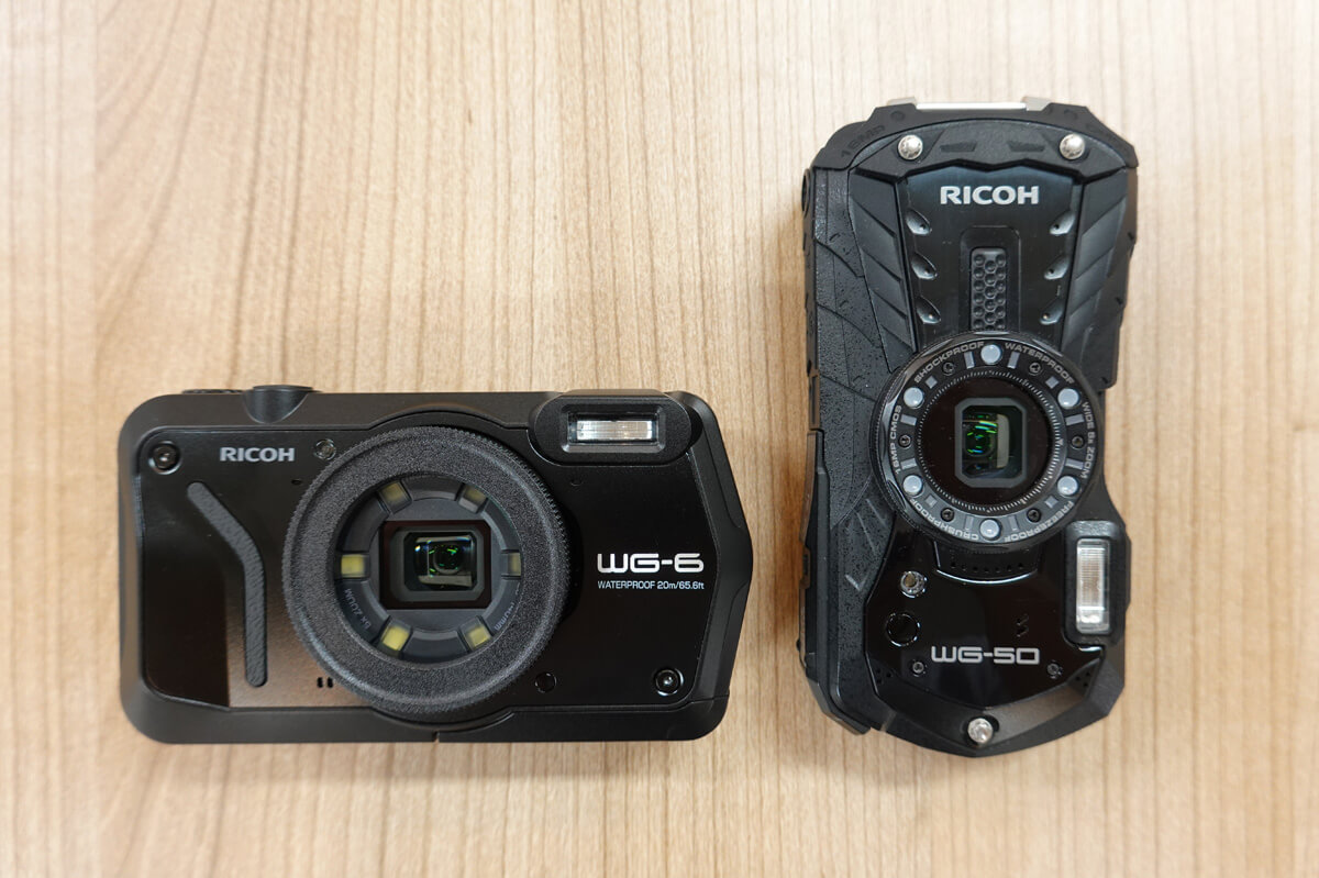RICOH WG6,WG70,WG60,WG50の違いを比較